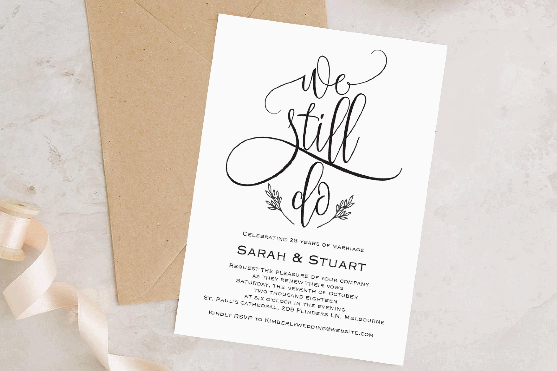 We still do invitation, Wedding anniversary invitation example image 2