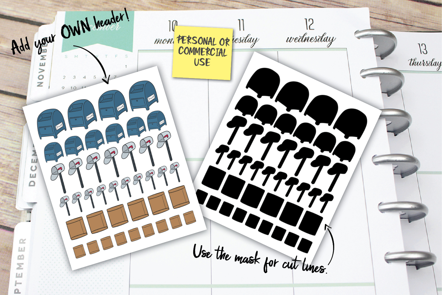 Mail Planner Stickers example image 1