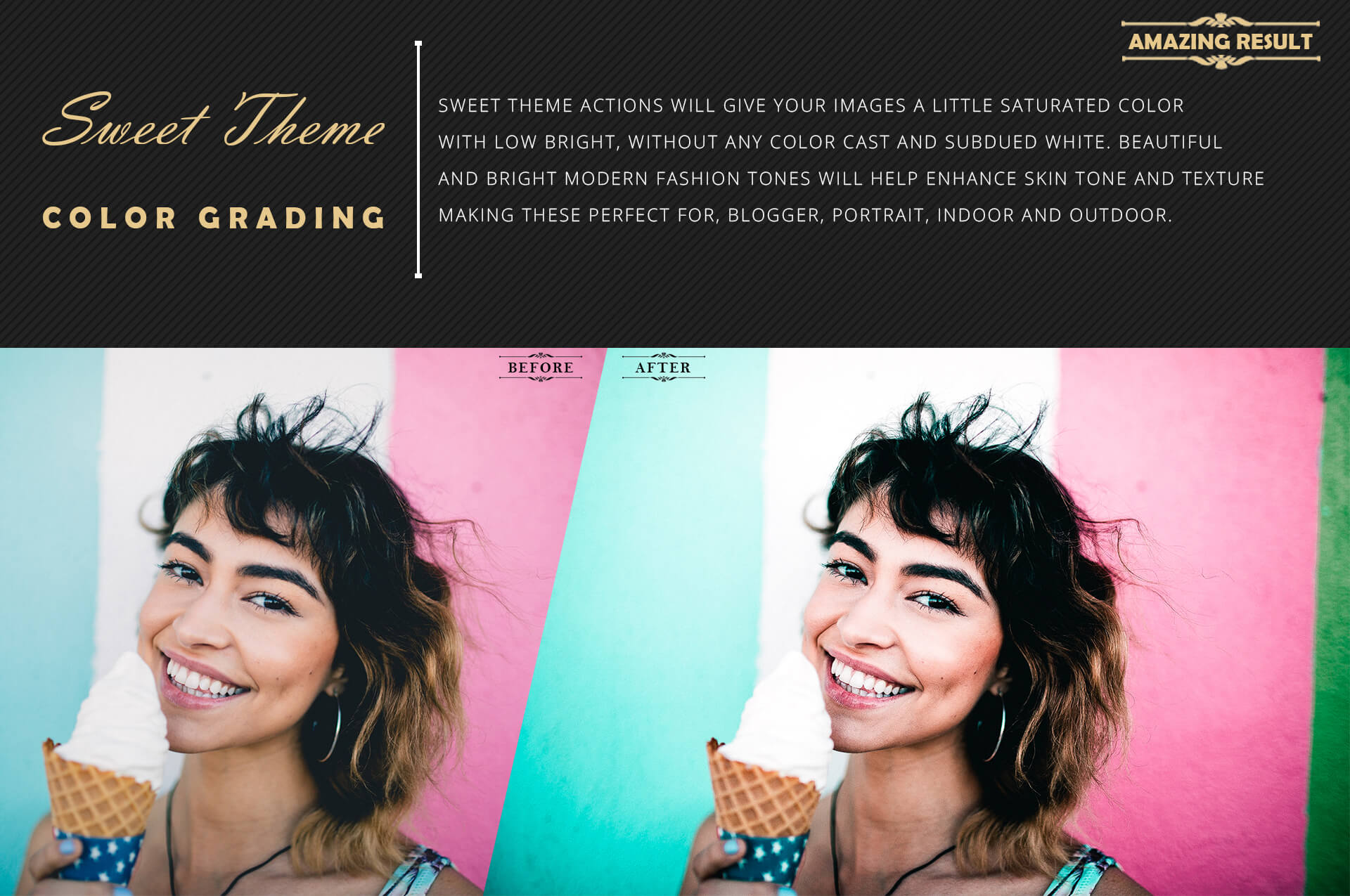 Neo Sweet Color Grading photoshop actions example image 4
