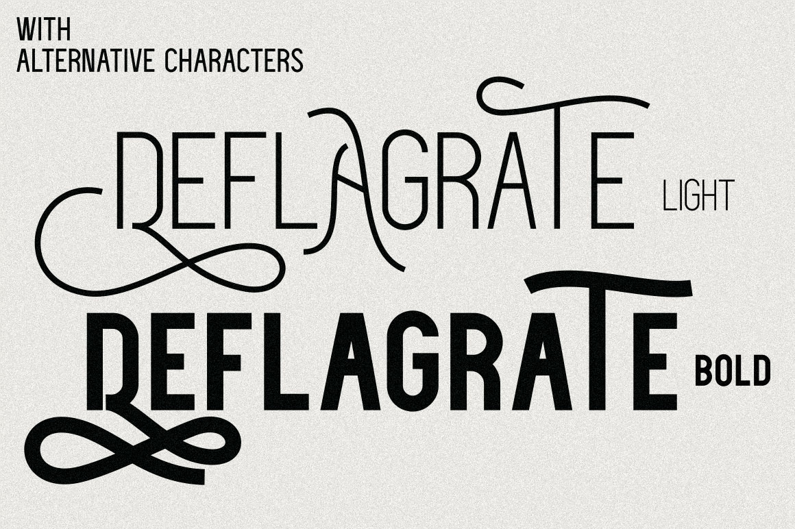 Deflagrate Fonts example image 4