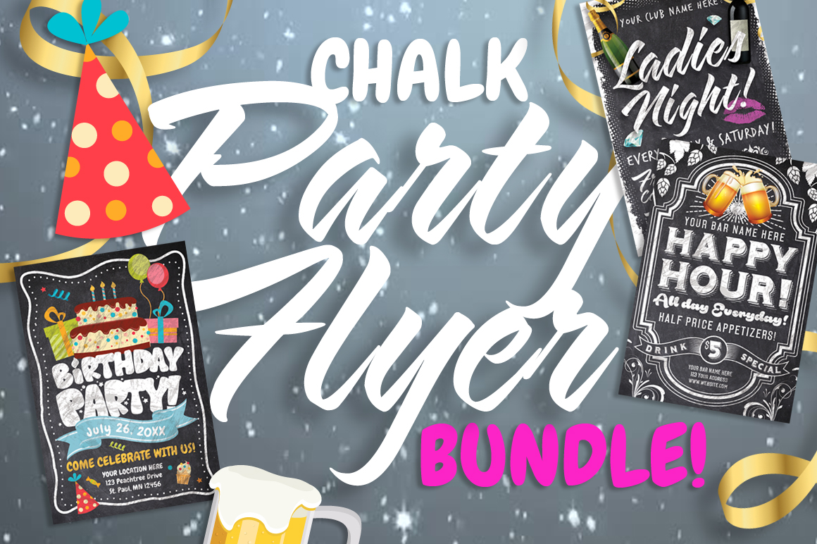 Chalk Party Flyer Bundle 30 off example image 3