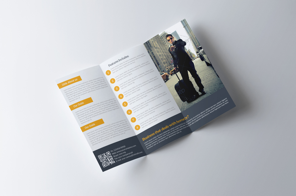 Business Tourist Trifold Brochure example image 3