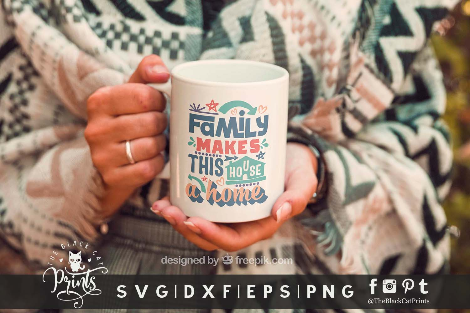 Family Makes This House a Home SVG DXF EPS PNG Family svg example image 2