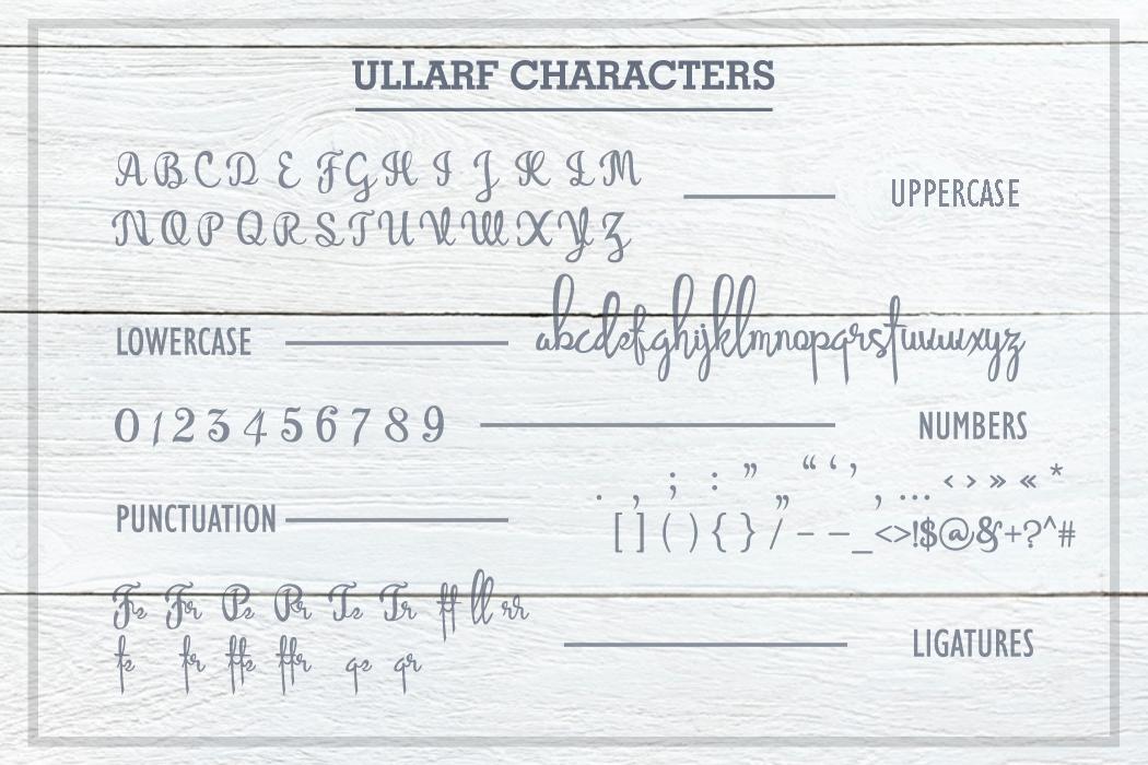 Ullarf Font example image 8