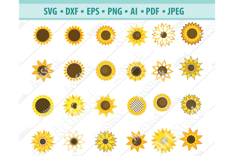 Download Sunflower svg, Sunflower clipart, Sun frame Dxf, Png, Eps ...