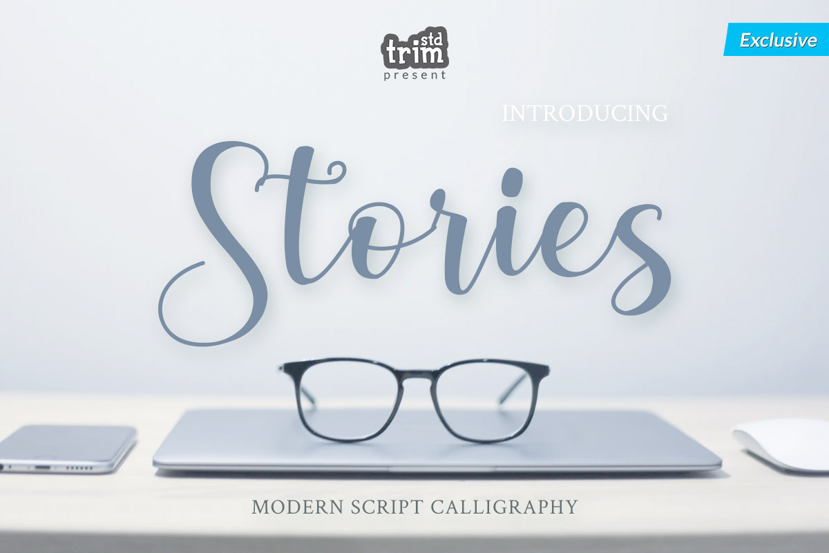 Stories - Modern Calligraphy Font example image 1