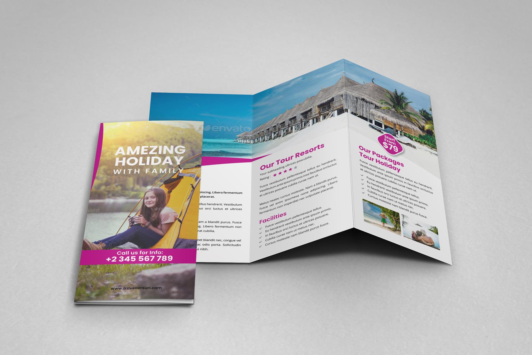 Travel Resort Trifold Brochure v3 example image 7
