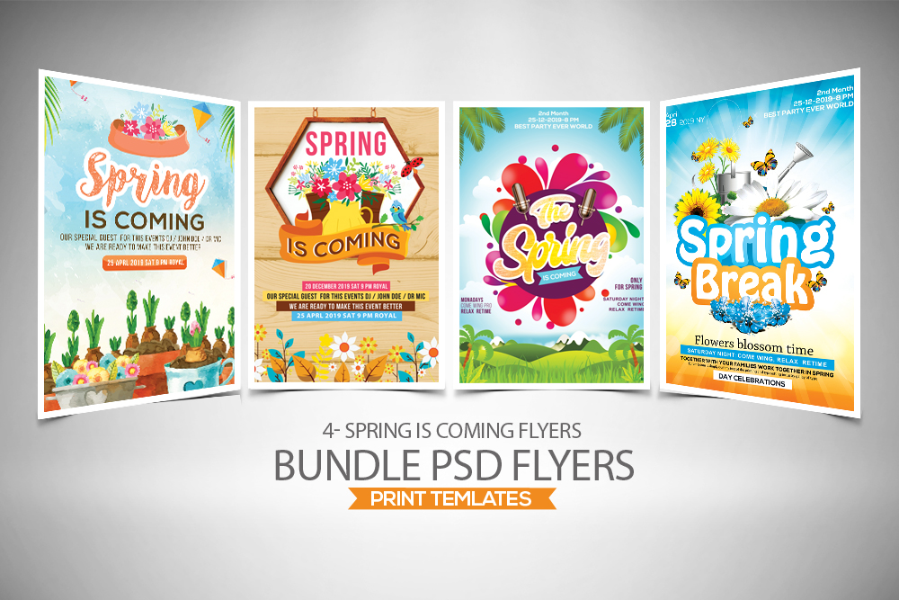 4 Spring Flyers Bundle example image 1