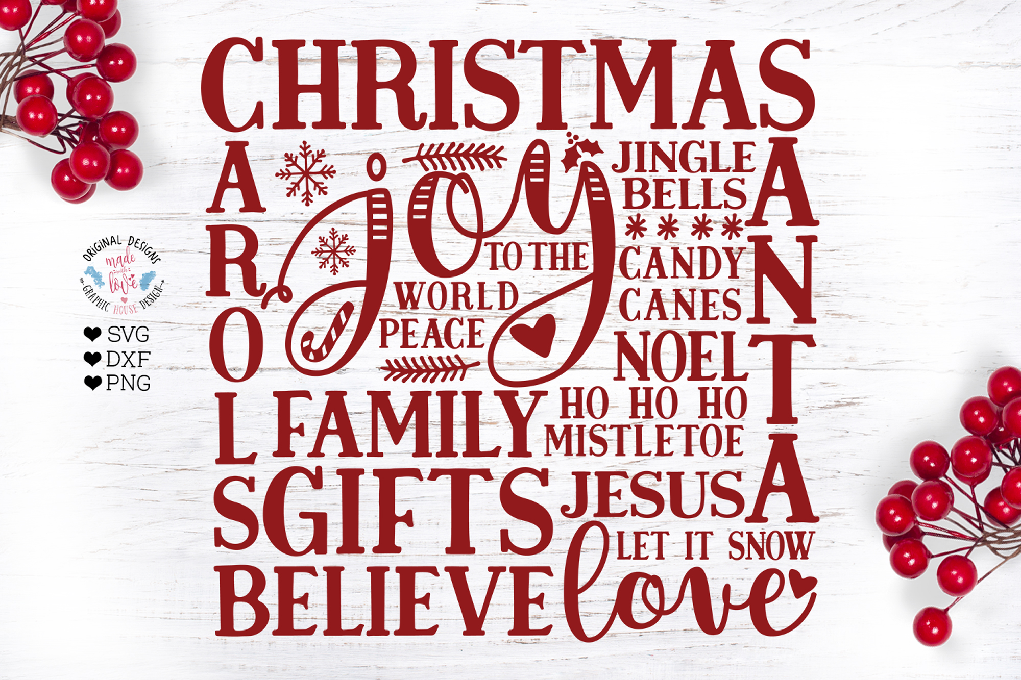 A Merry Christmas Cut Files Bundle example image 3