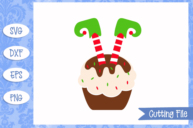 Elf legs cupcake cut File example image 1