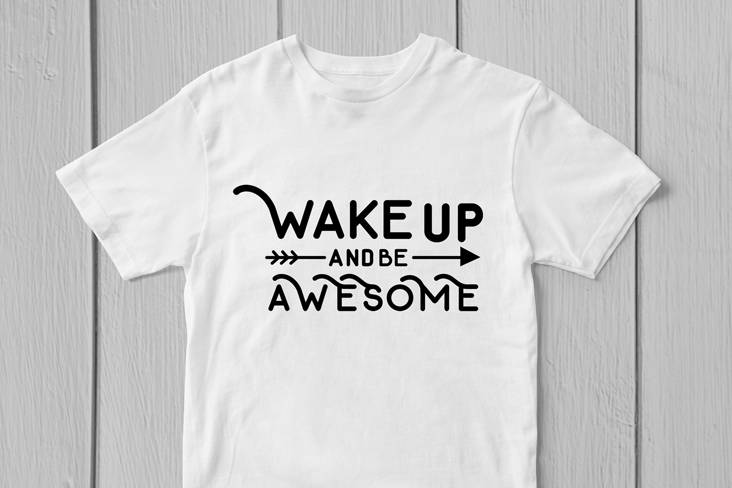 Wake Up And Be Awesome - Quote SVG EPS DXF PNG Cutting File example image 2