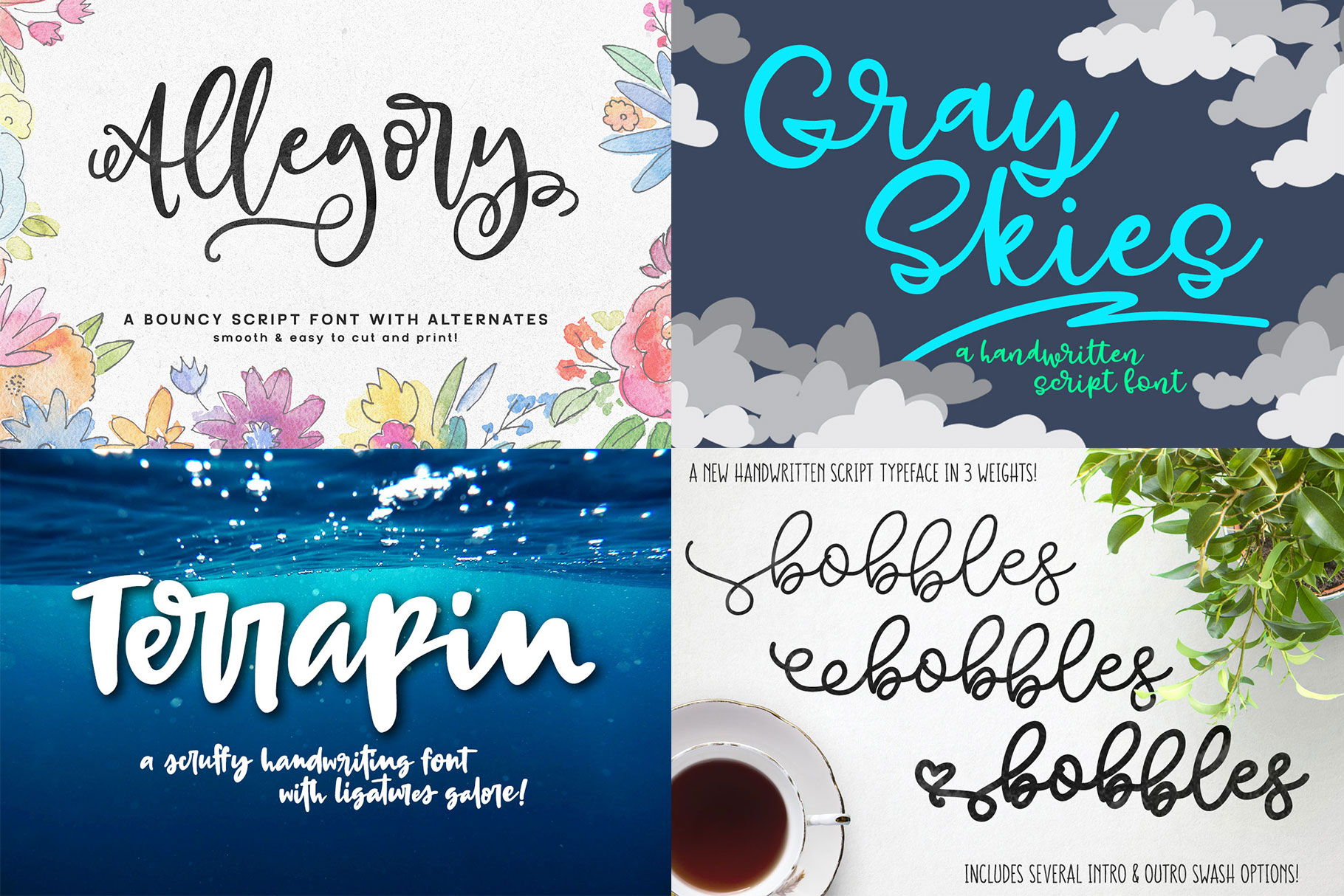 Billy Bot Bundle 4 - Snazzy Scripts Font Bundle! example image 2