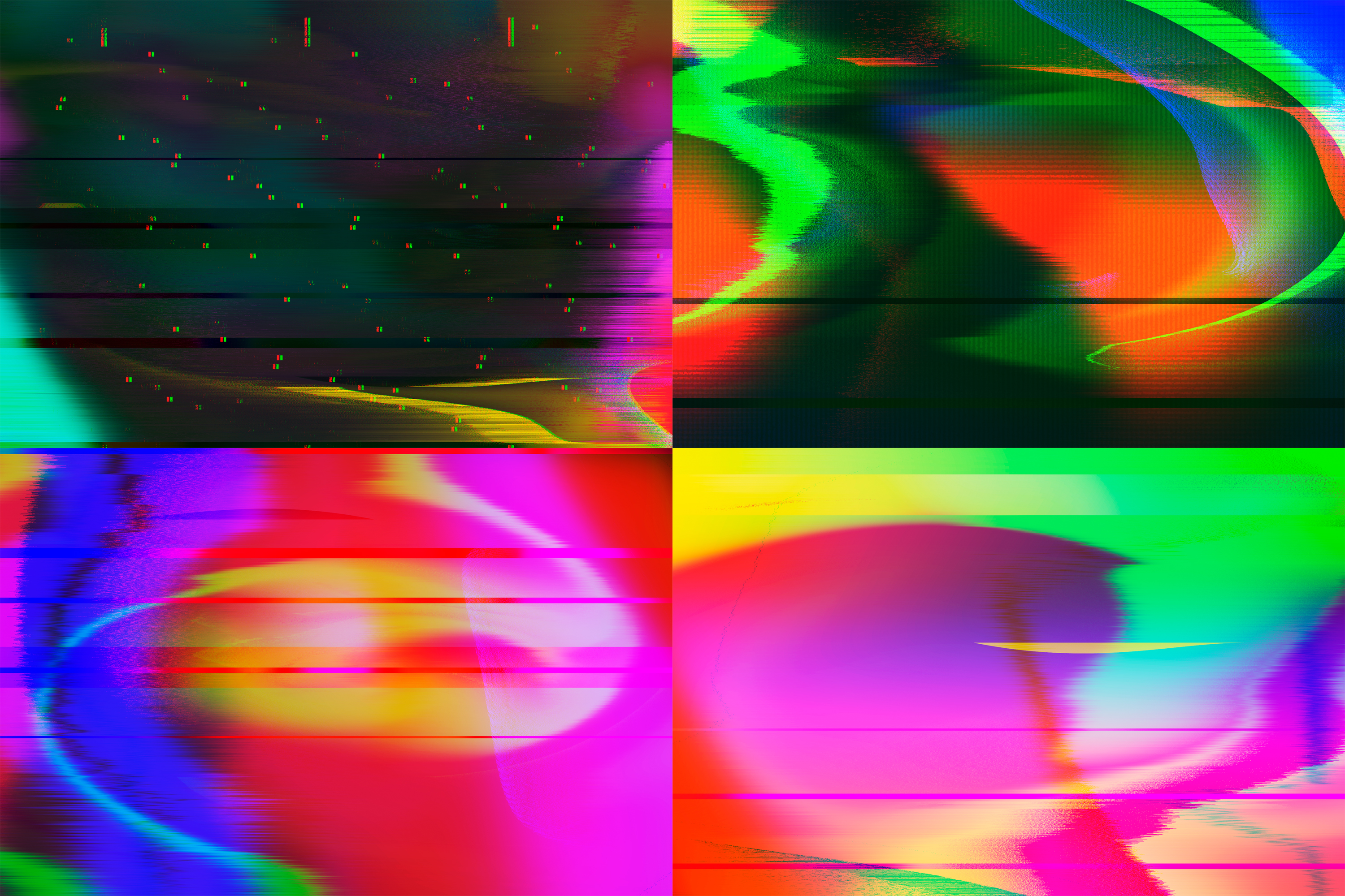 Abstract Glitched Backgrounds Pack example image 2