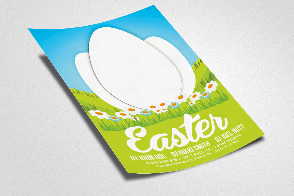 Easter Psd Flyer Template example image 2