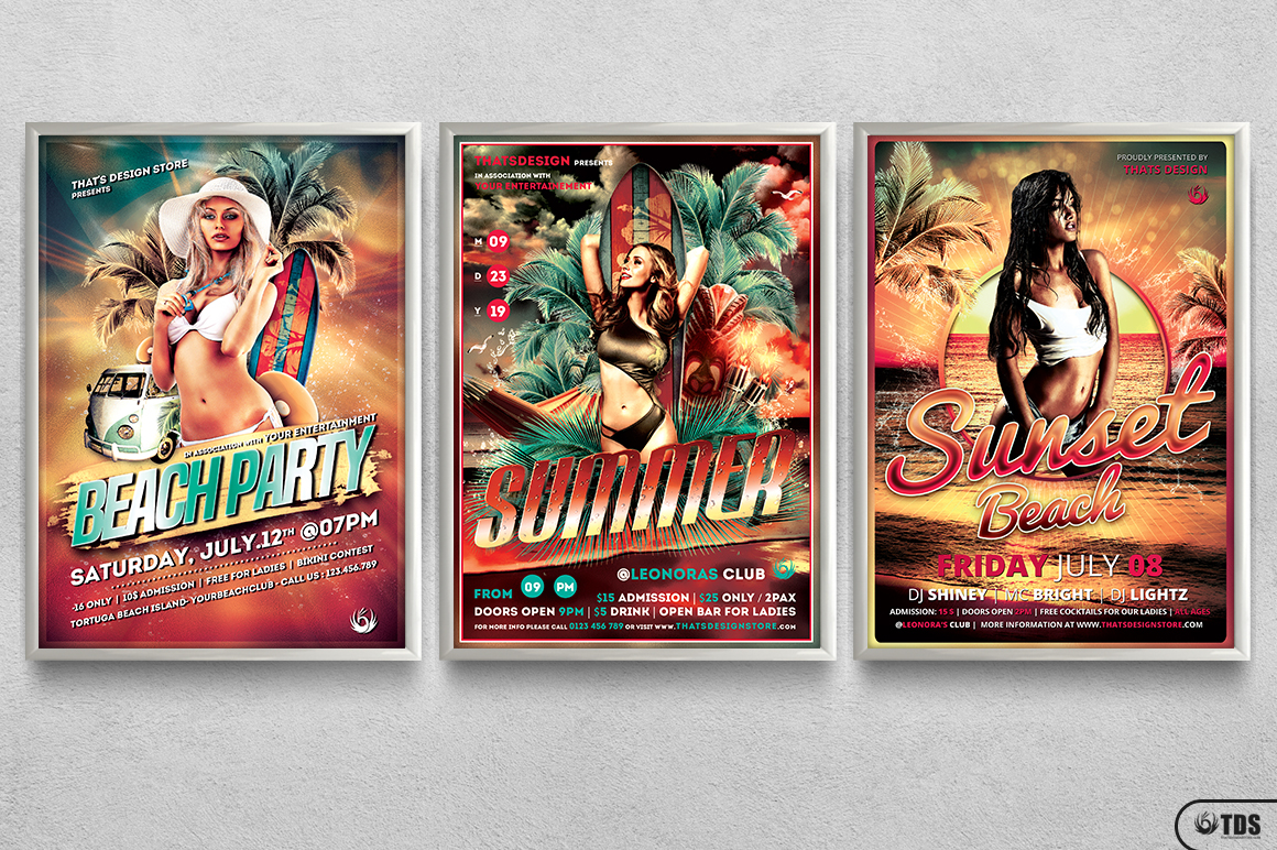 Beach Party Flyer Bundle V1 example image 11