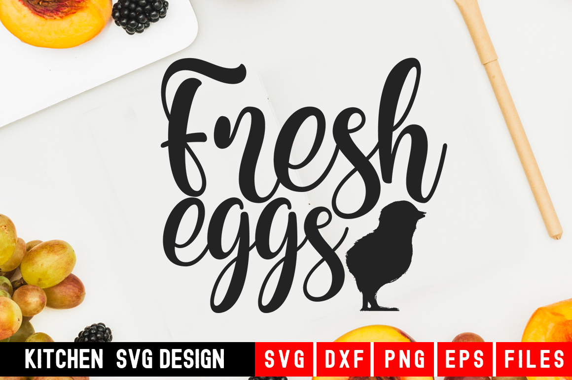 Fresh Eggs Svg|kitchen svg|kitchen towel svg example image 1