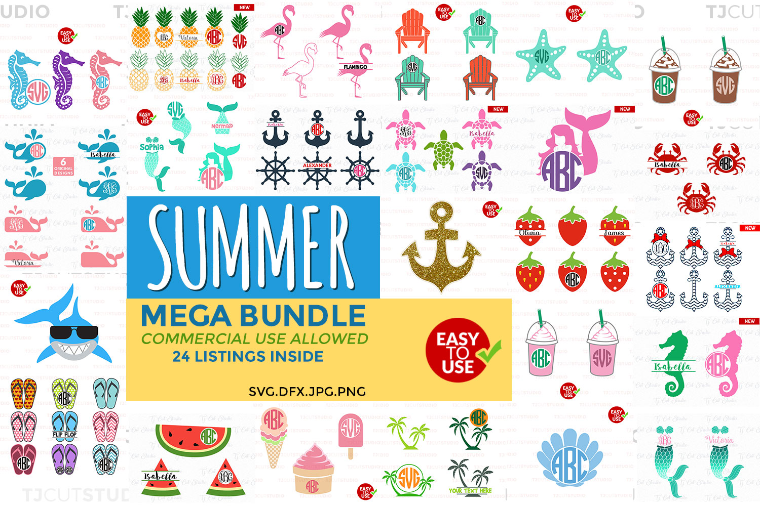 Summer Bundle svg, svg bundle, Summer svg, Files for Silhouette Cameo or Cricut, Commercial & Personal Use. example image 1