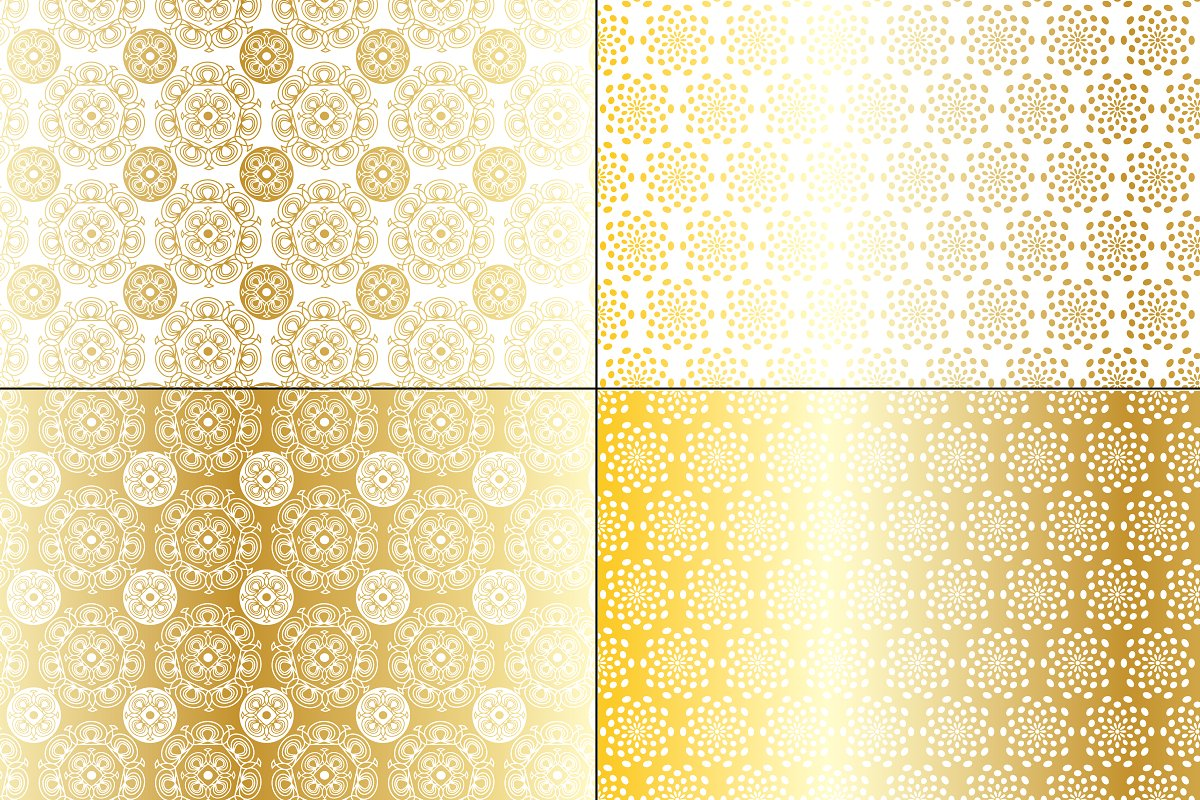 Gold Medallion Patterns example image 3