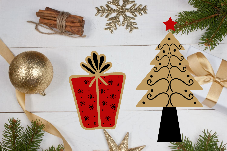 Christmas Clipart- Christmas Overlays-Holiday Graphics example image 3