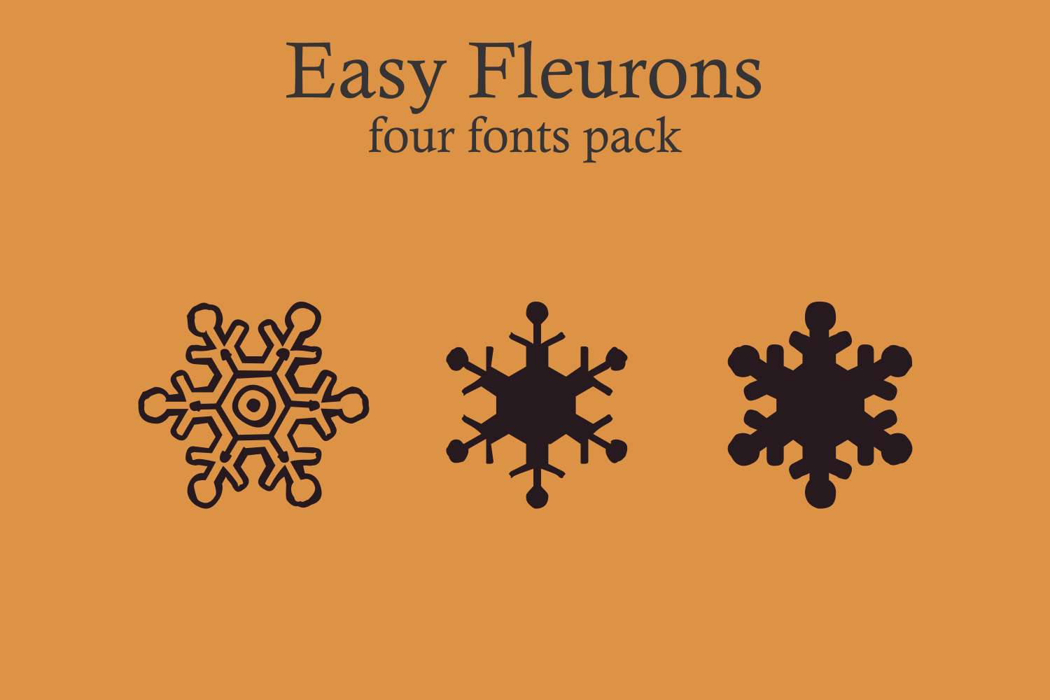 Easy Fleurons Pack (four fonts) example image 6