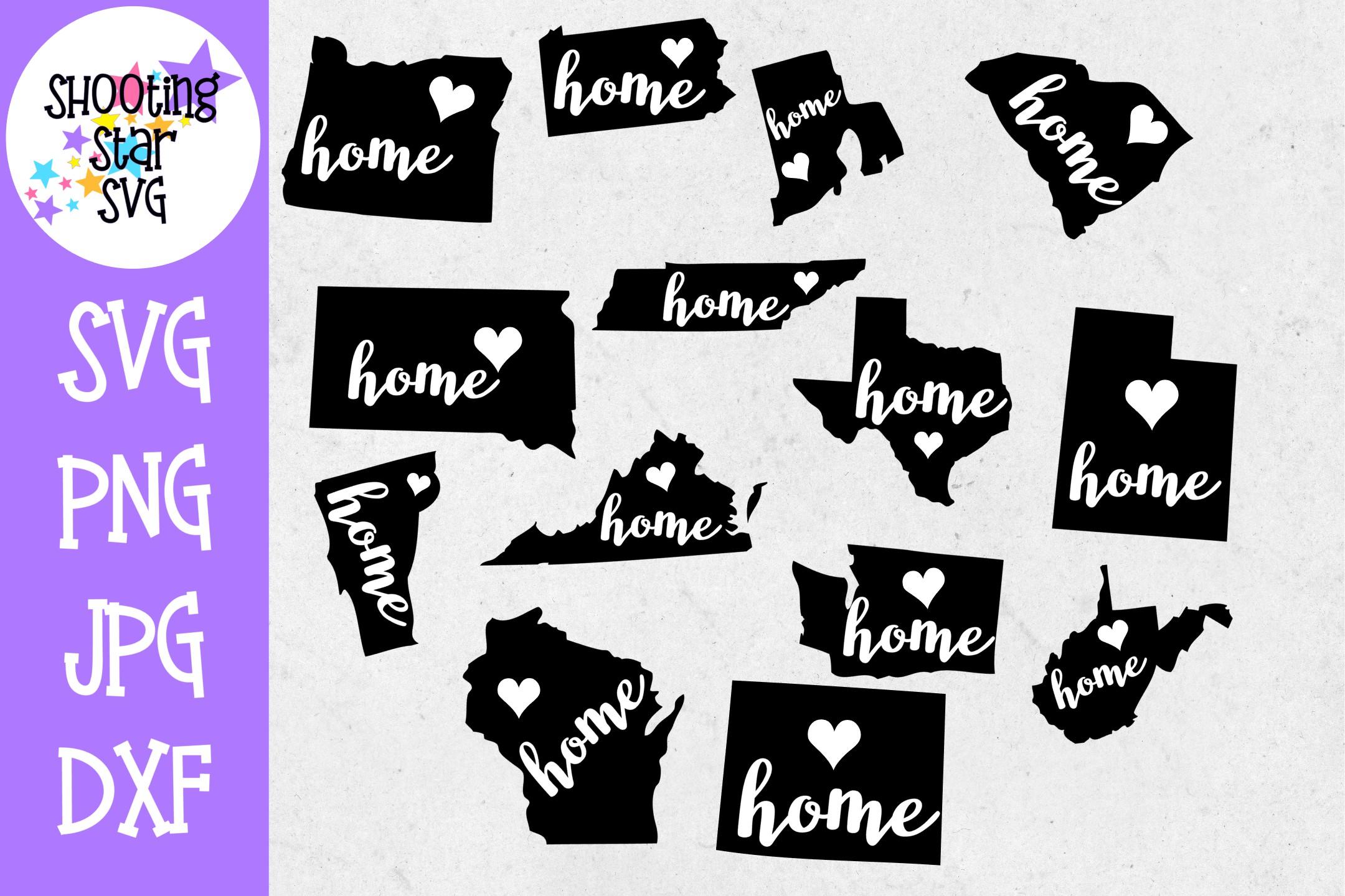 US State MEGA Bundle - 5 US State Bundles - US State SVG example image 12