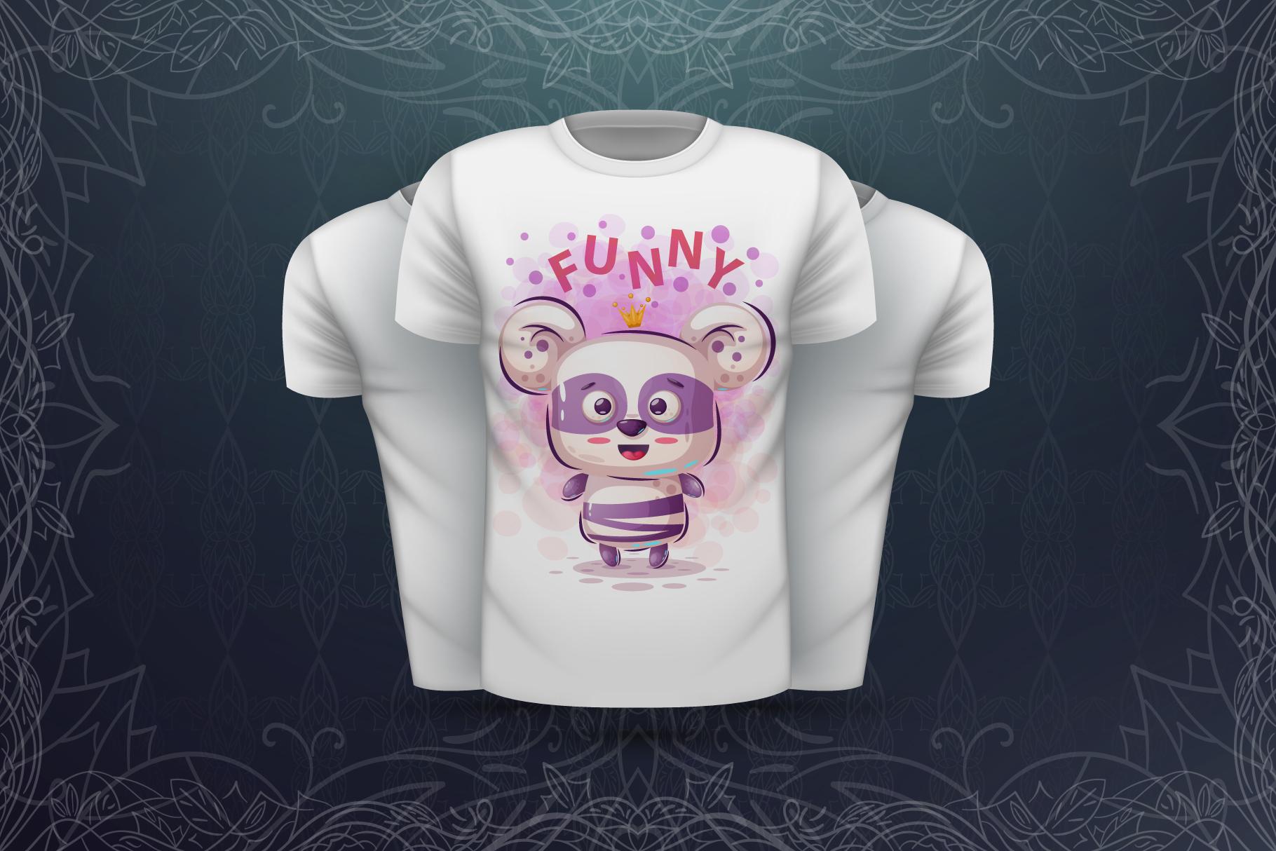 Set cute panda - for print t-shirt example image 5