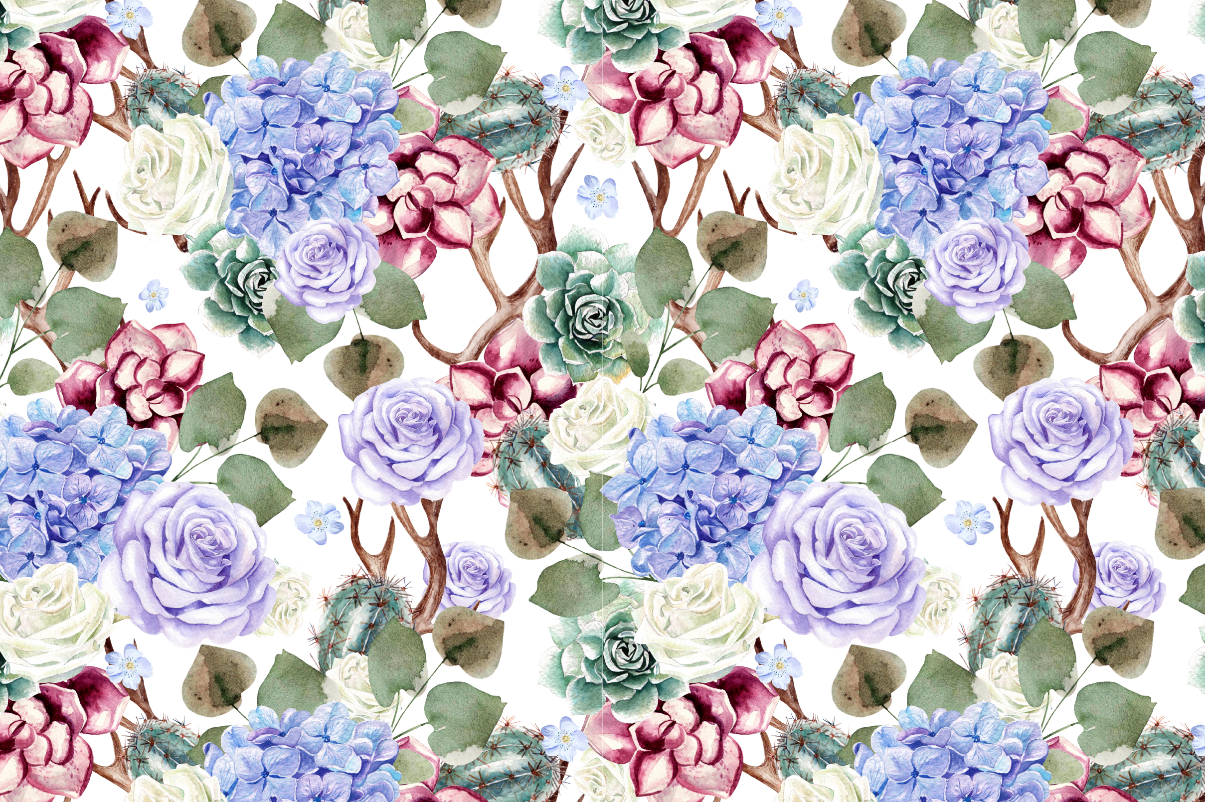 14 Hand drawn watercolor patterns example image 11