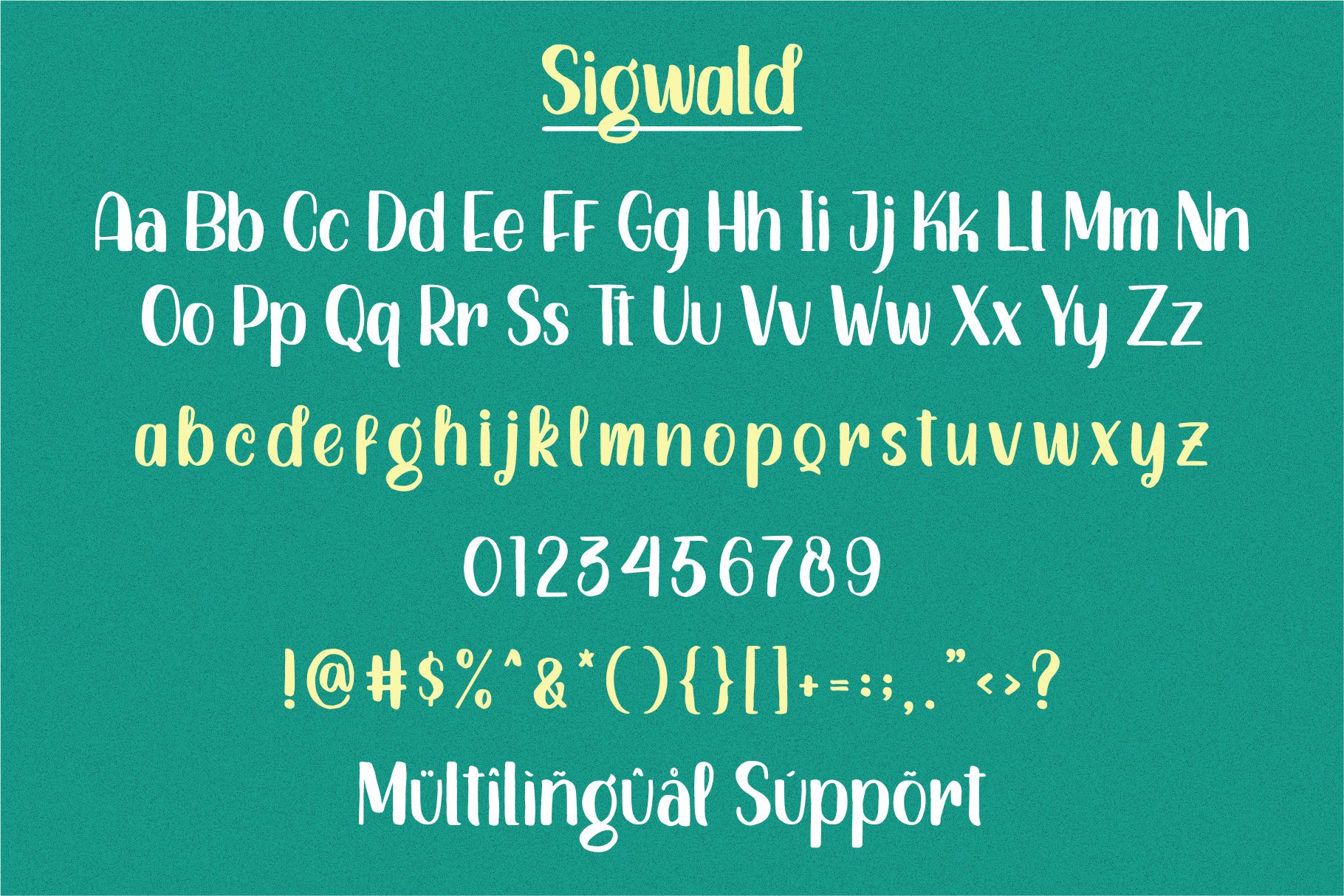 Sigwald - Handdrawn Fonts example image 4