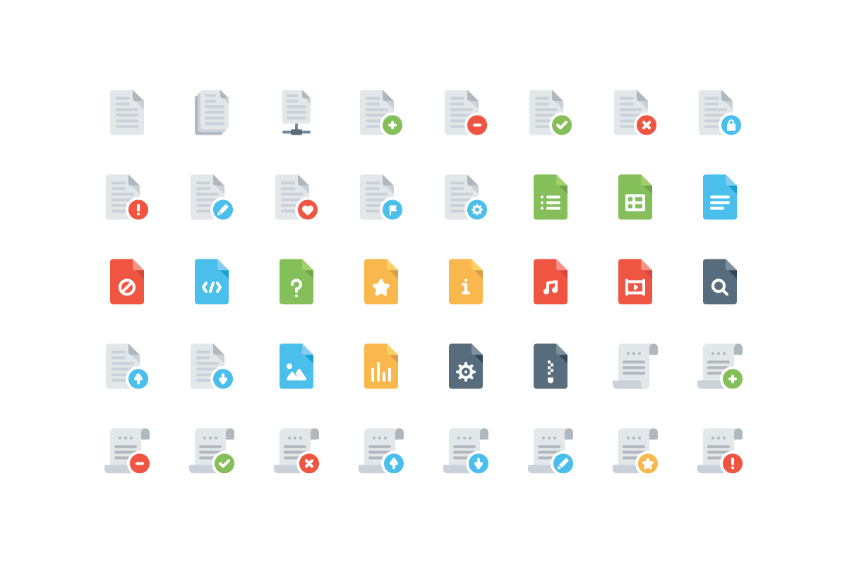 110 Files and Folders Icons example image 3