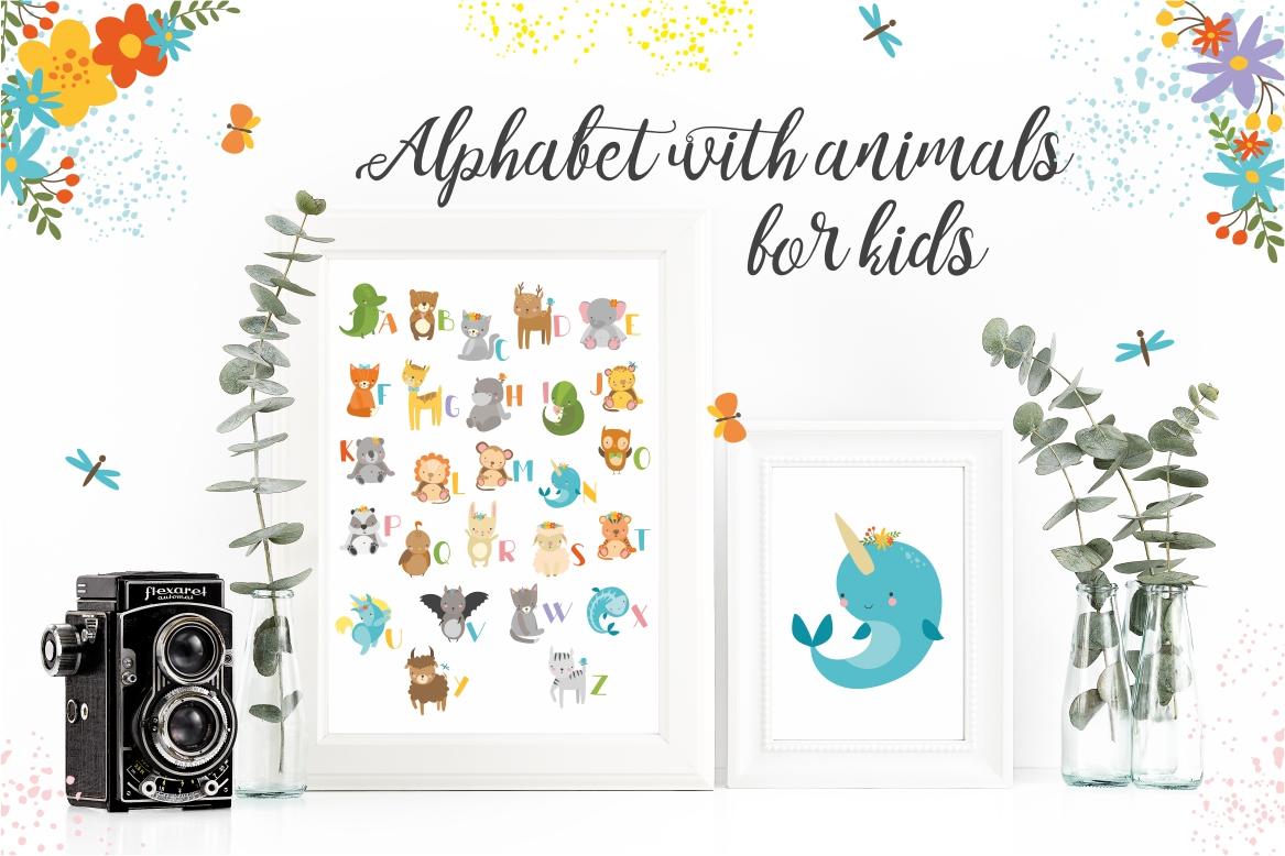 Alphabet animals for kids example image 2