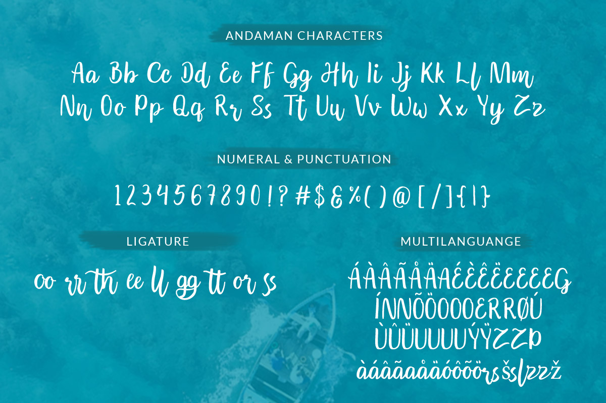 Andaman - Handlettering Font example image 6
