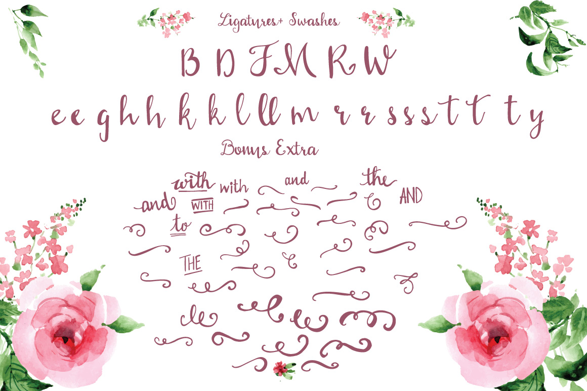With love Handwritten font example image 3