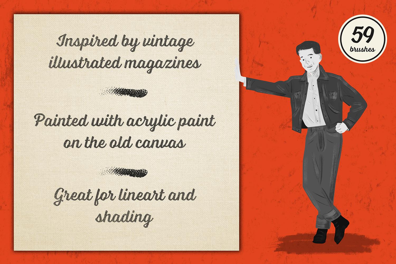Preppy Art Brushes for Adobe Illustrator example image 2