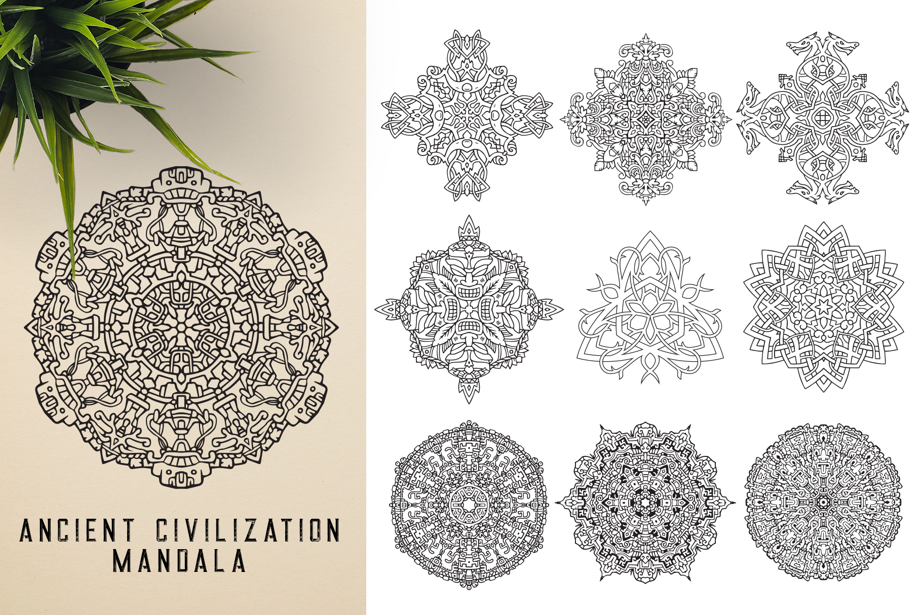 300 Vector Mandala Ornaments example image 20