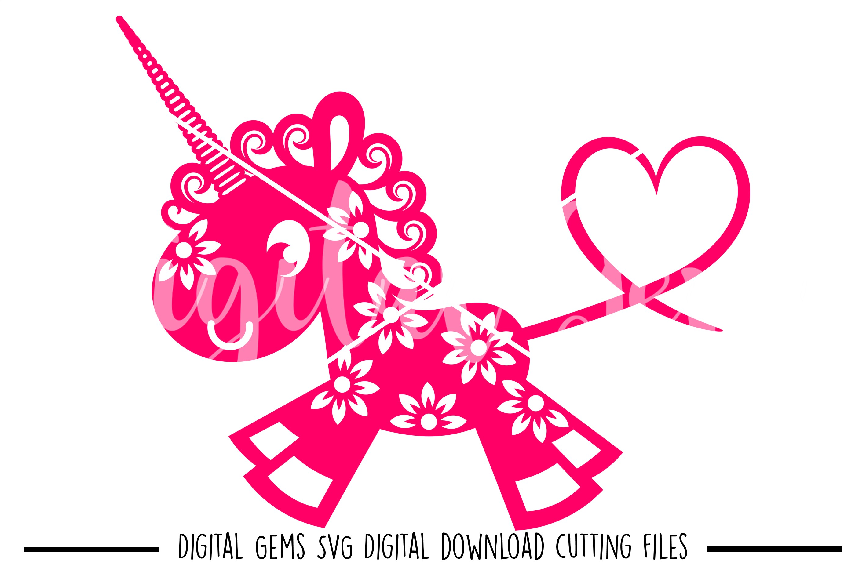Unicorn SVG / DXF / EPS / PNG files example image 1
