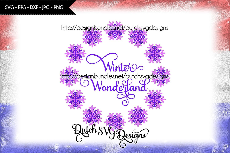 Winter Wonderland cut file, Winter Wonderland svg example image 2