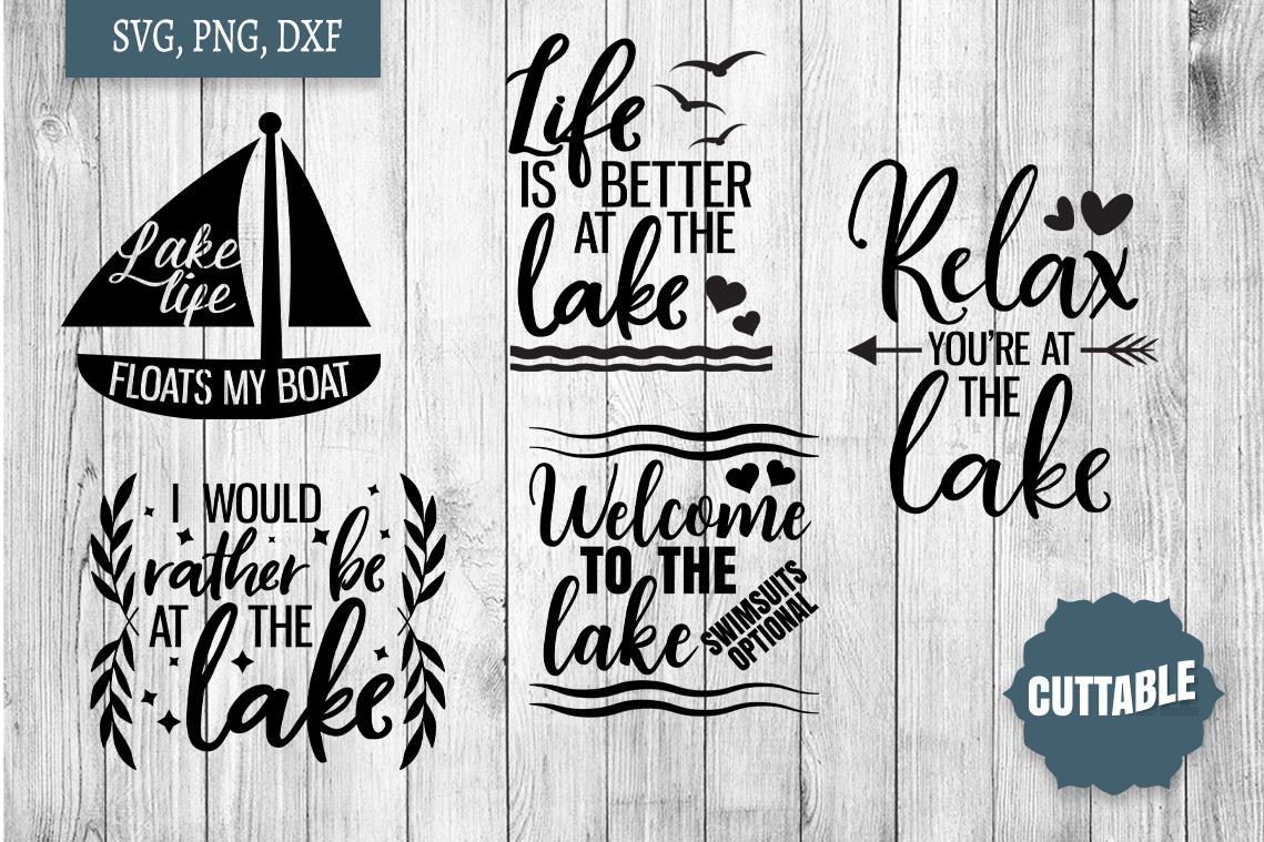 Lake SVG bundle, Lake home cut file bundle, Lake quote SVGs example image 2