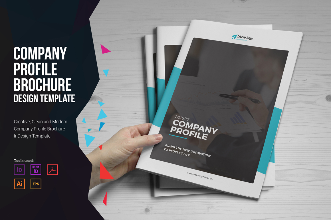 company profile brochure design v1 by m design bundles
