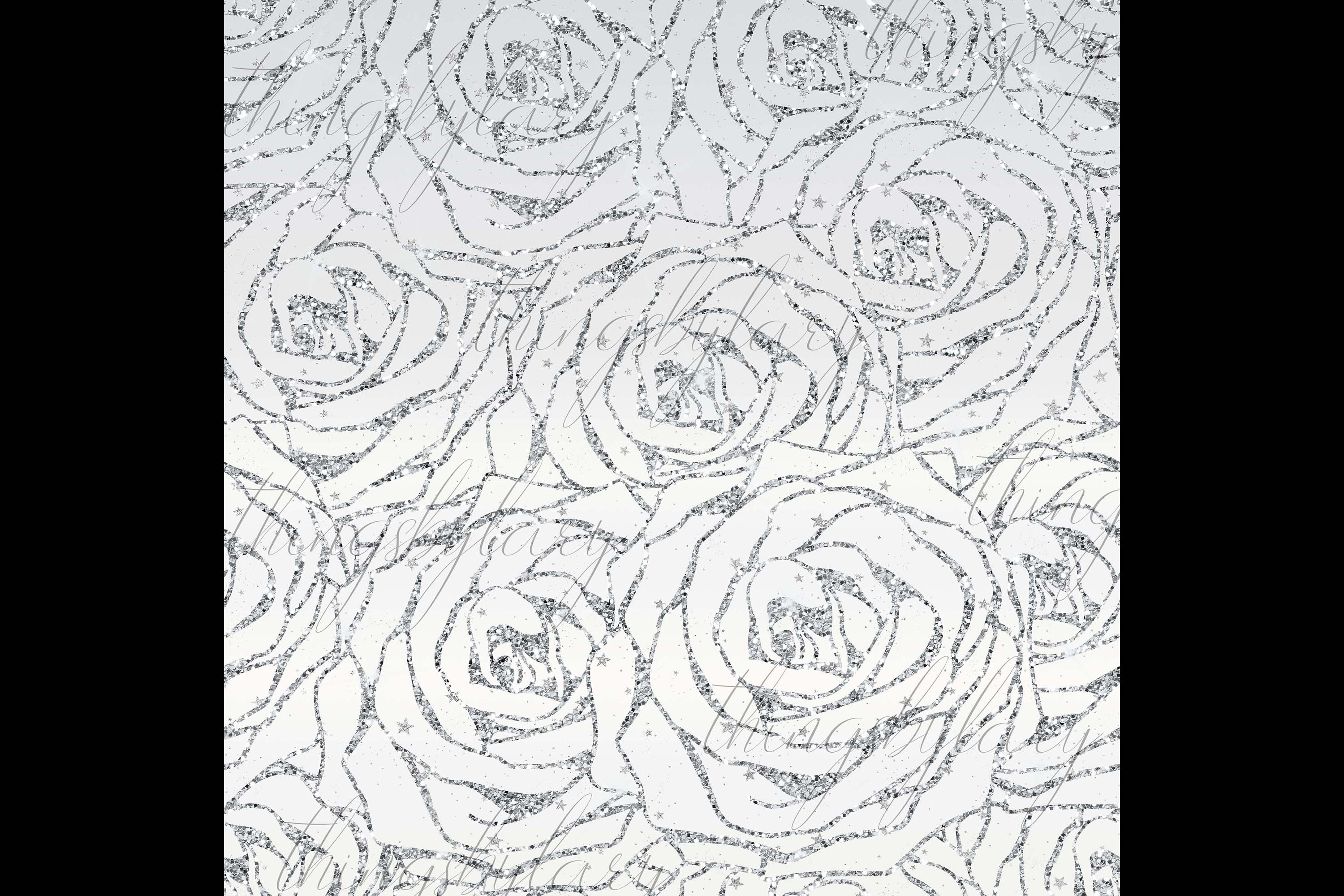 16 Seamless Glitter Rose Net Overlay Digital Images PNG example image 7