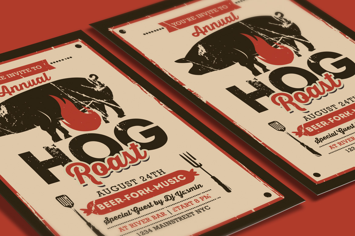 Pig Roast Event Flyer example image 3