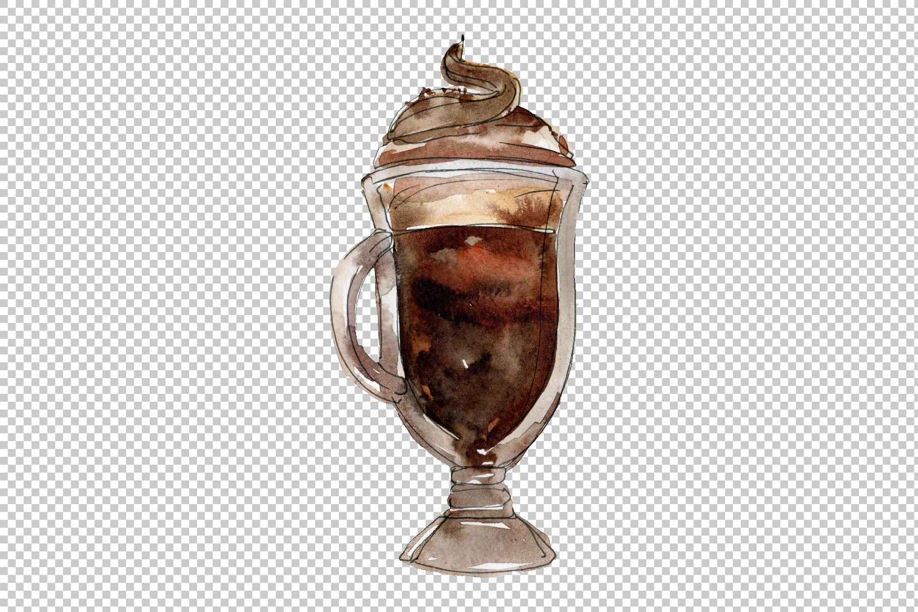 Drinks Coffee Watercolor png example image 4