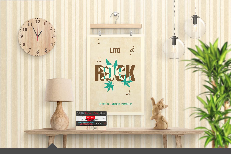 Poster Hanger Mockup example image 1
