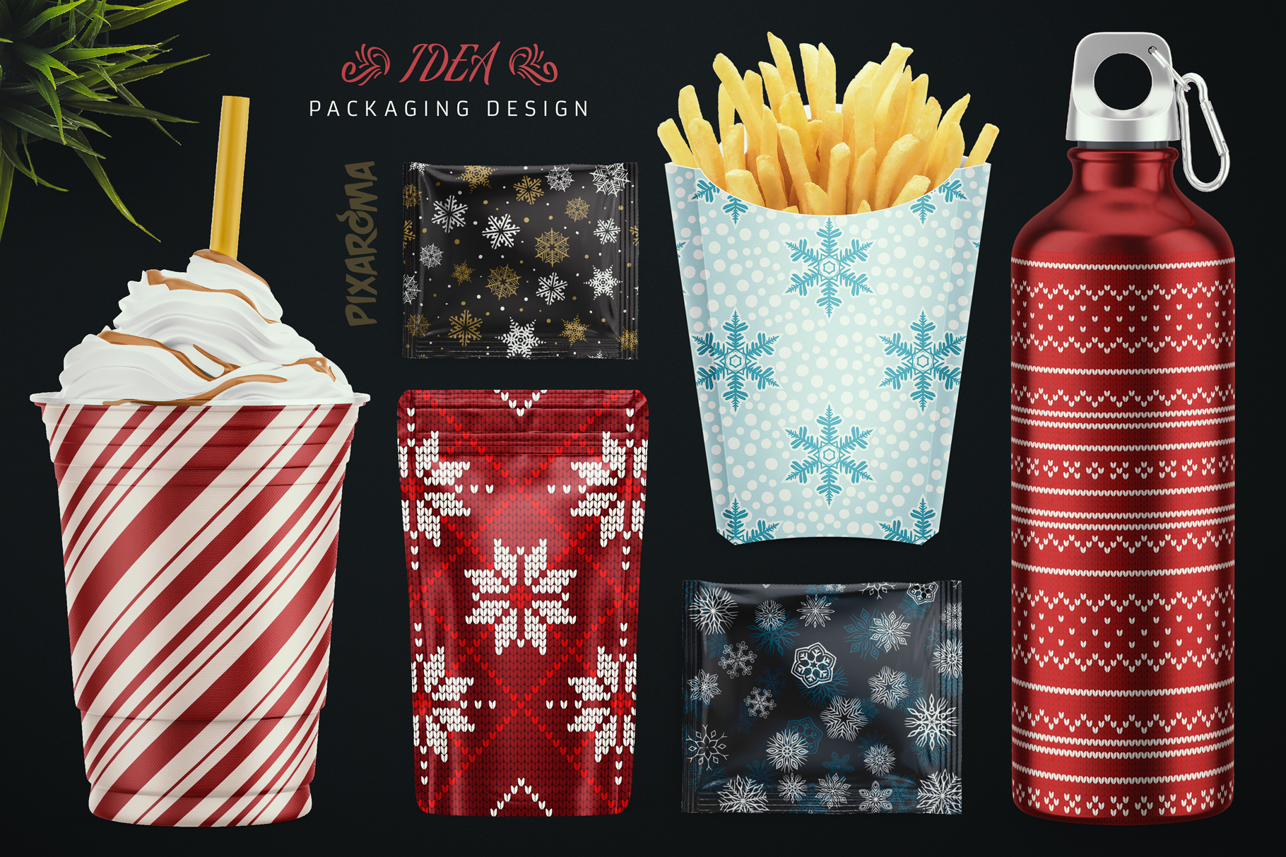 100 Seamless Patterns Vol.4 Christmas example image 9