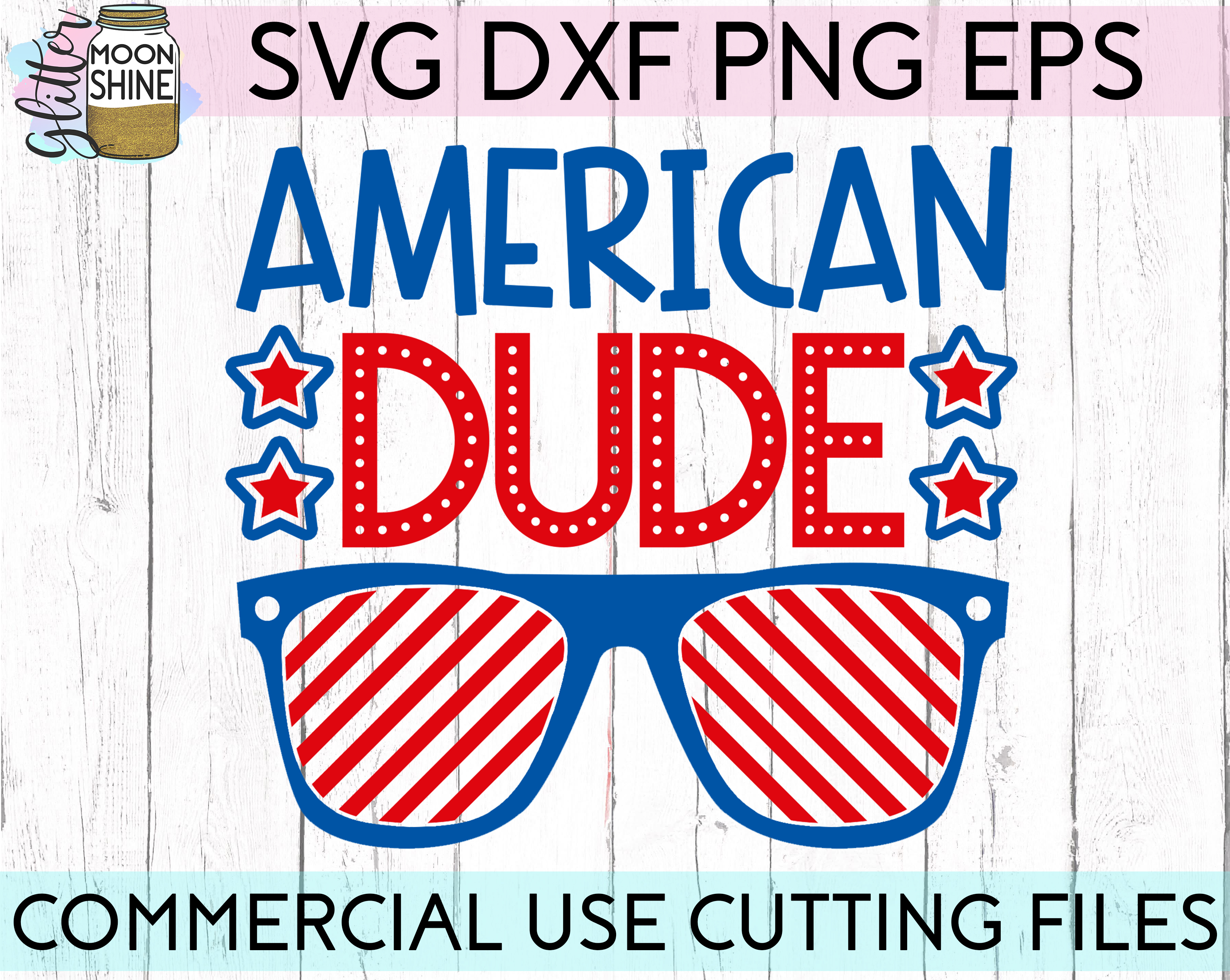 Huge 4th Of July Design Bundle of 23 SVG DXF PNG EPS Cutting Files example image 8