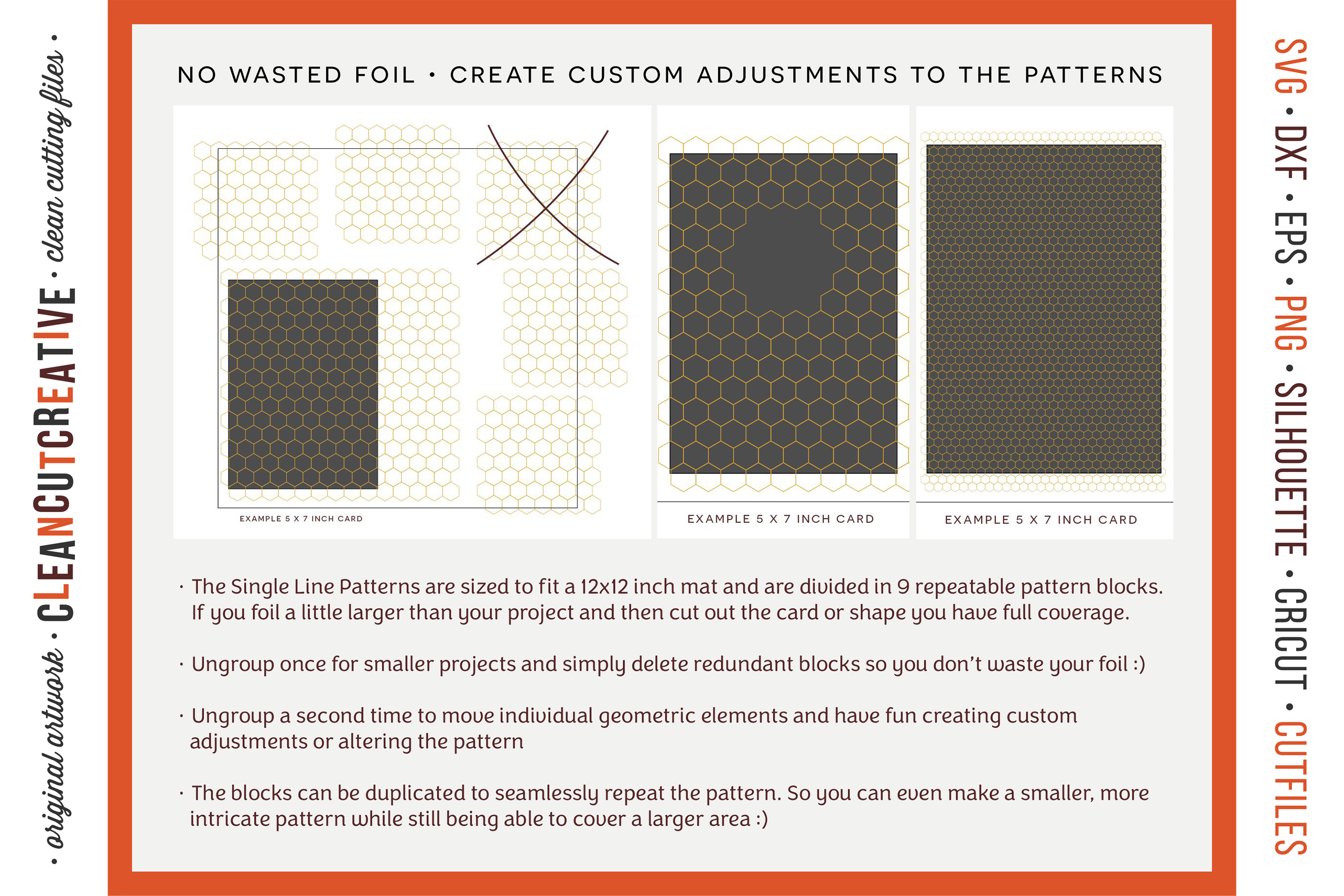 Foil Quill designs SVG   20 Geometric Single Line Patterns example image 4