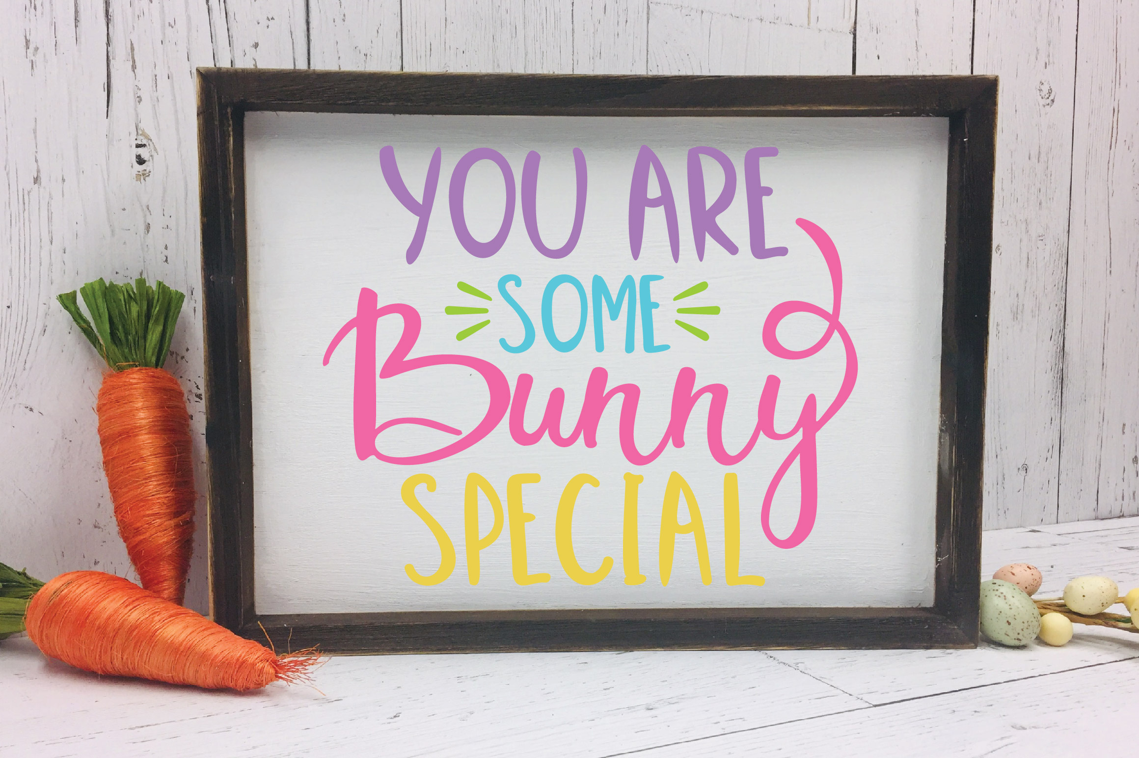 Easter SVG Cut File - You are Some Bunny Special SVG DXF EPS example image 2