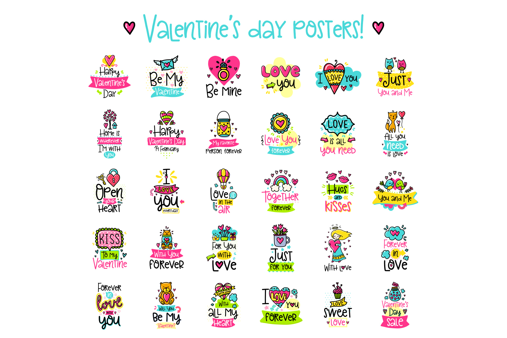90 Valentine's Day Cards - Love Set example image 3