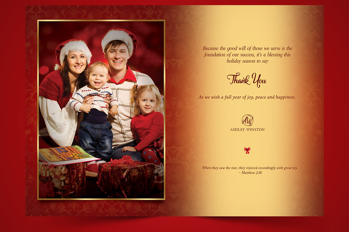 Happy Christmas Greeting Card Template example image 5