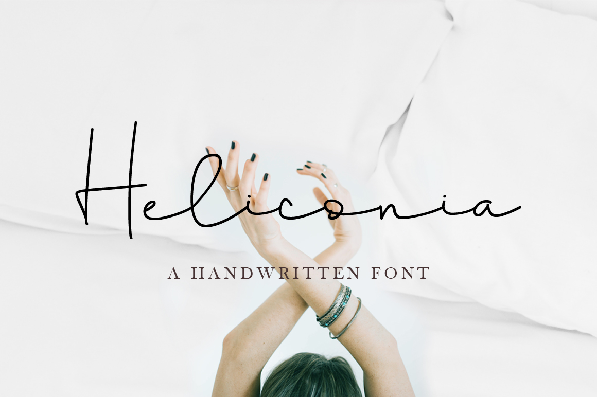 Heliconia Script Font example image 1