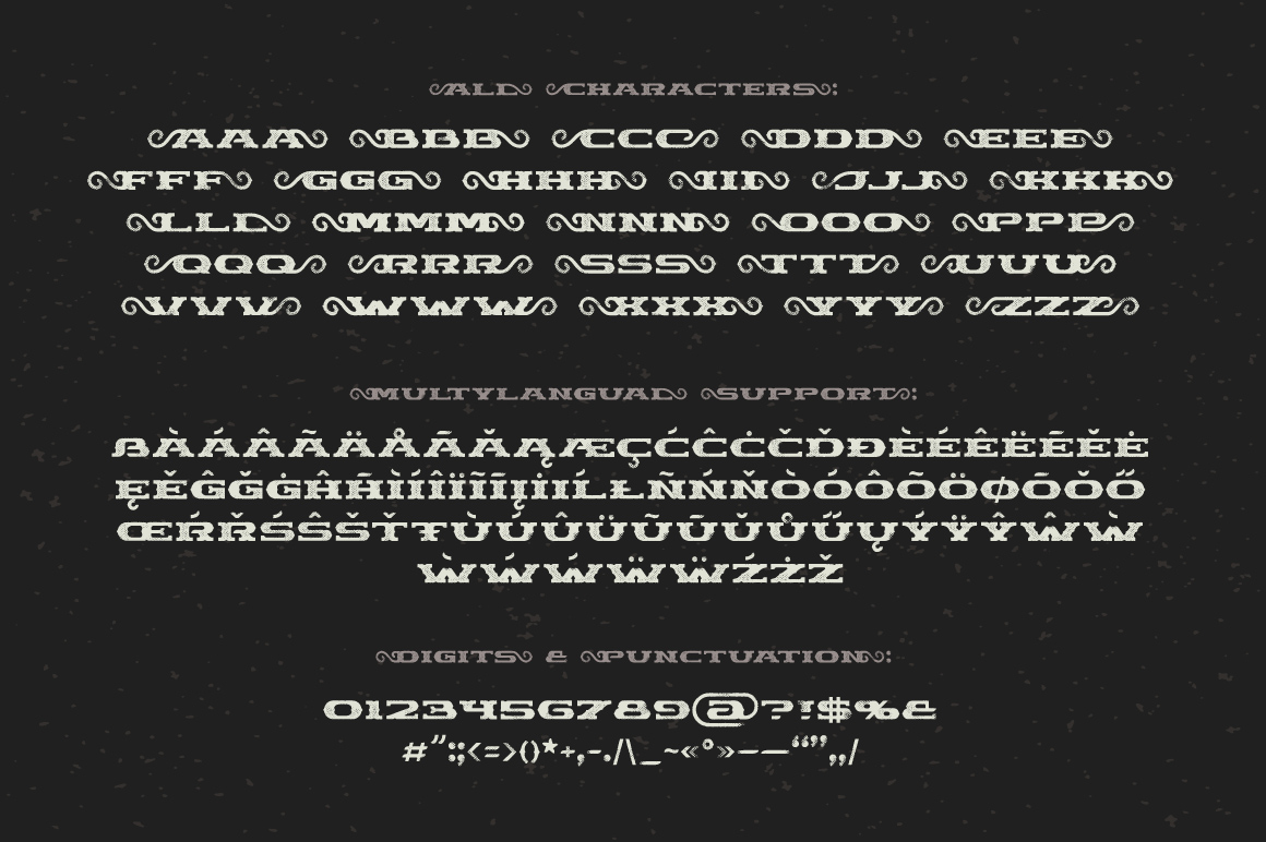 Chimera Tail, font + illustration example image 5
